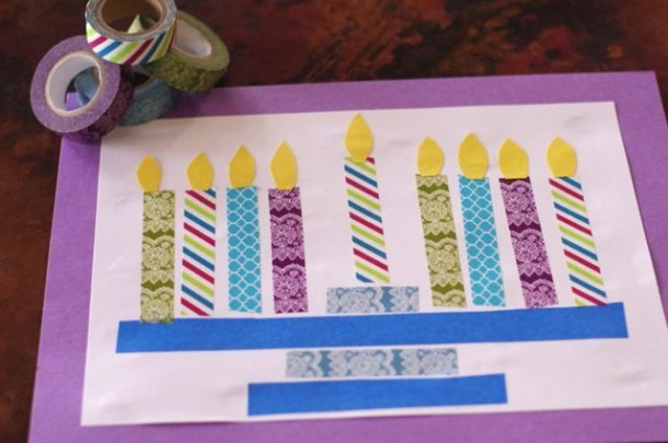 Menorah Craft For Kids