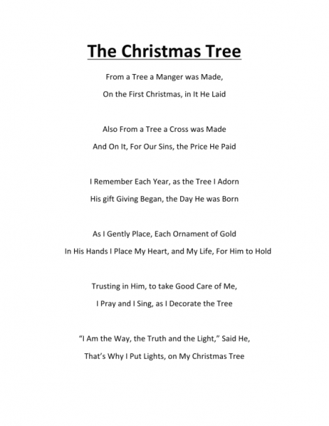The Christmas Tree Poem By K  Ross My Good Friend In Christ Jesus
