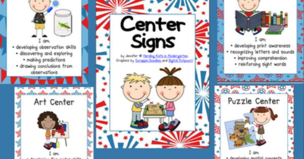 Kindergarten Kiosk Center Signs Class Rules