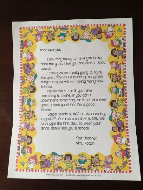 New Tales Of A Third Grade Teacher  Welcome Back To School Letter