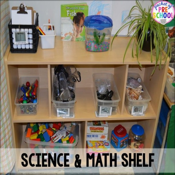 Math And Science Shelf In My Discovery Centerclassroom Reveal