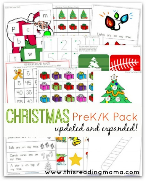 Free Christmas Prek K Pack {updated And Expanded!}