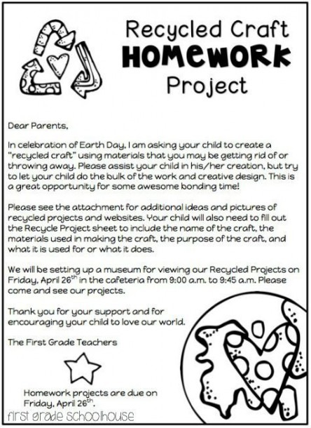 Recycled+craft+homework+project+letter Jpg 475×653 Pixels