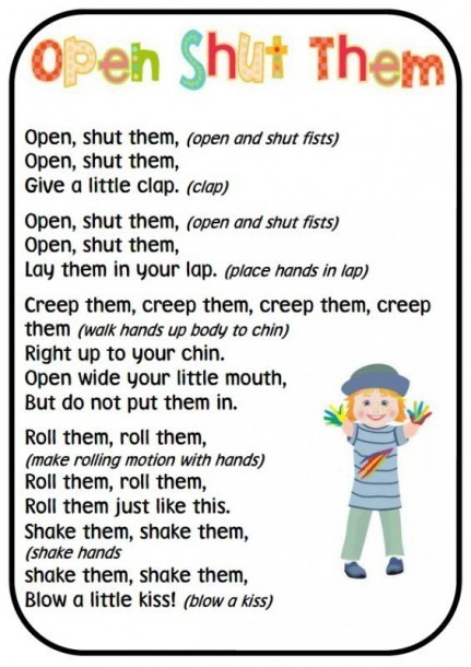 This Set Of 20 A4 Finger And Hand Rhyme Posters Can Be Used In