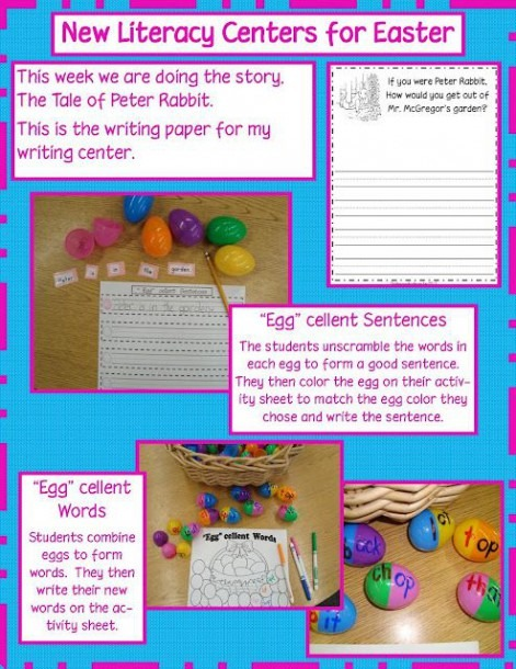 Easter Literacy Centers (i Really Like The Story Starteruse In
