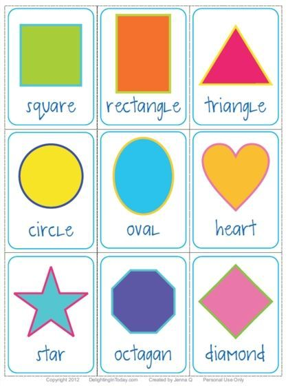Free Shape Flashcards Download And Printable