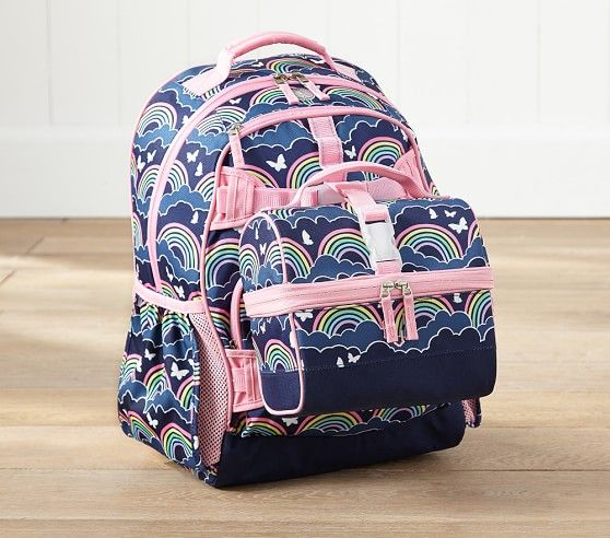 Mackenzie Hot Pink Hibiscus Backpack
