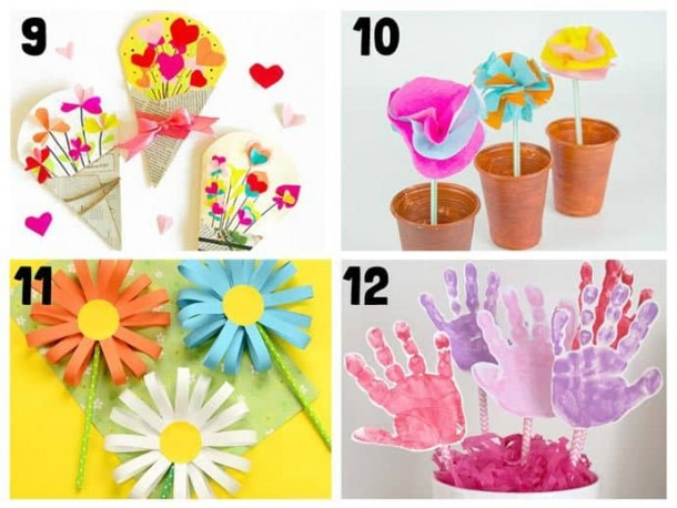 20+ Pretty Flower Crafts For Kids