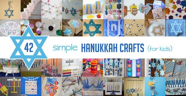 42 Simple Hanukkah Crafts For Kids To Make