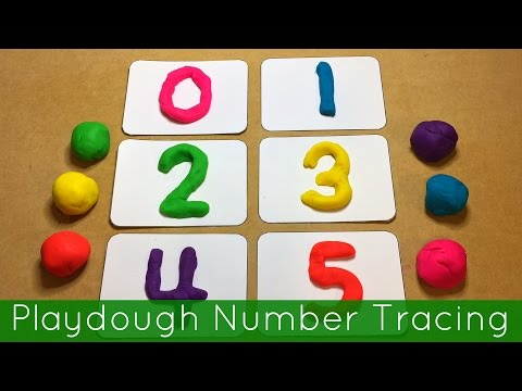 Playdough Number Tracing Preschool And Kindergarten Fine Motor
