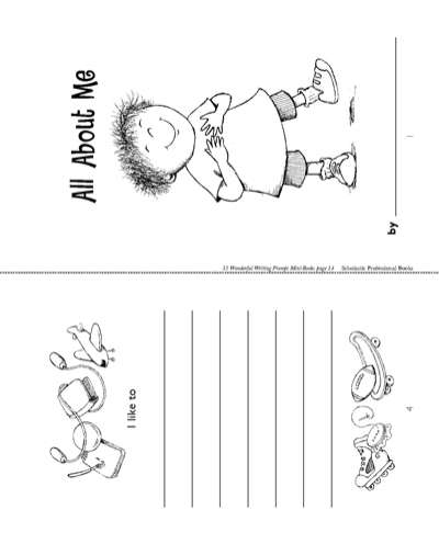Minibook  All About Me