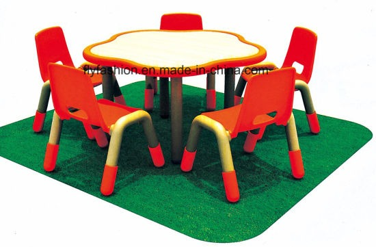 China Kindergarten Furniture School Desk And Chair For Kids (sf