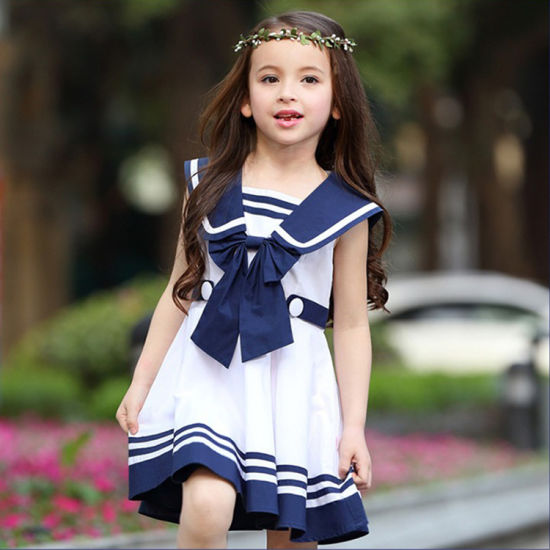 China Latest Design Japan Style School Girls Uniform Marine