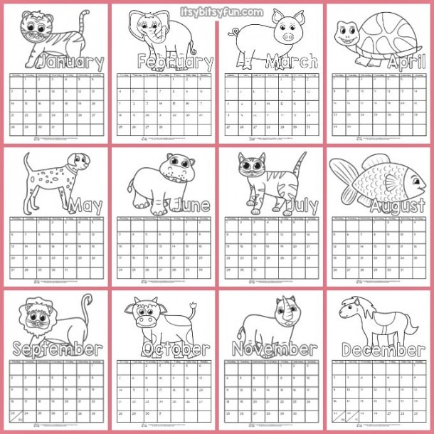 Printable Calendar For Kids 2019