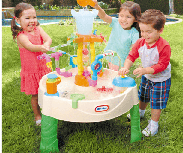 Kids Fun Water Spiral Table Plastic Ball Out Door Splash Play