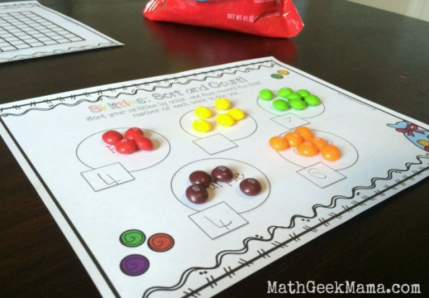 Skittles Math  Count And Graph! {free Printables!}