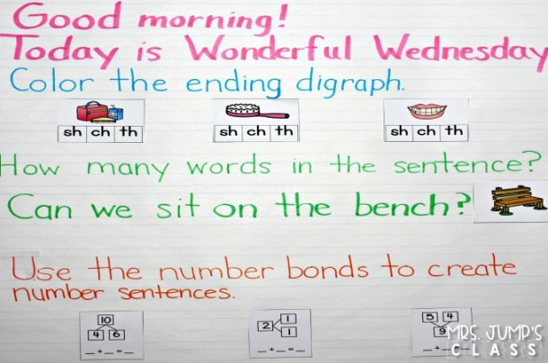 Morning Meeting Messages For Kindergarten And 1st Grade