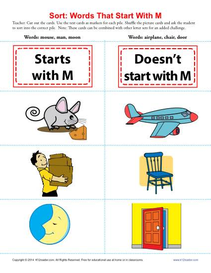 Words Starting With M