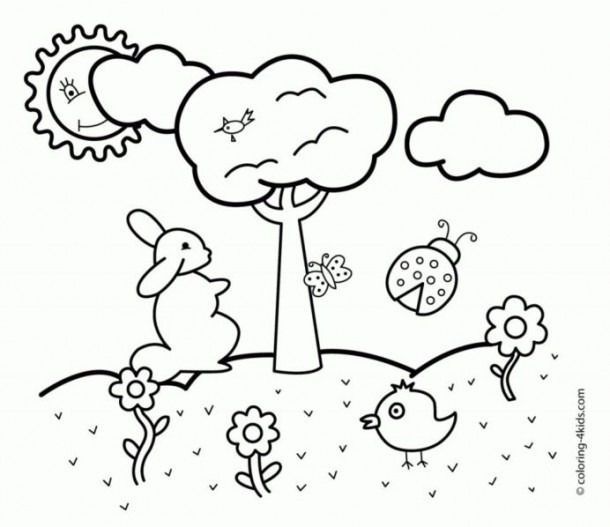 Spring Coloring For Preschoolers Collections Free Worksheets