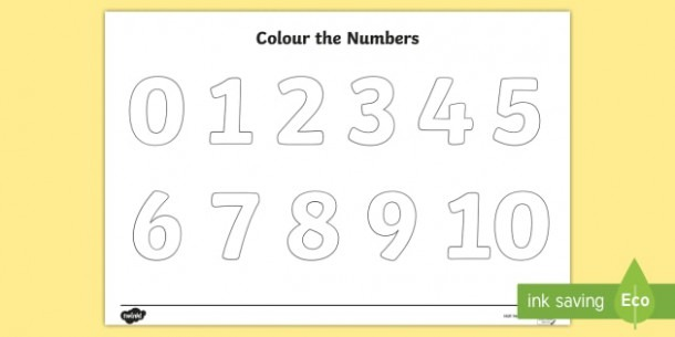 Color The Numbers 0 To 10 Coloring Page (teacher Made)