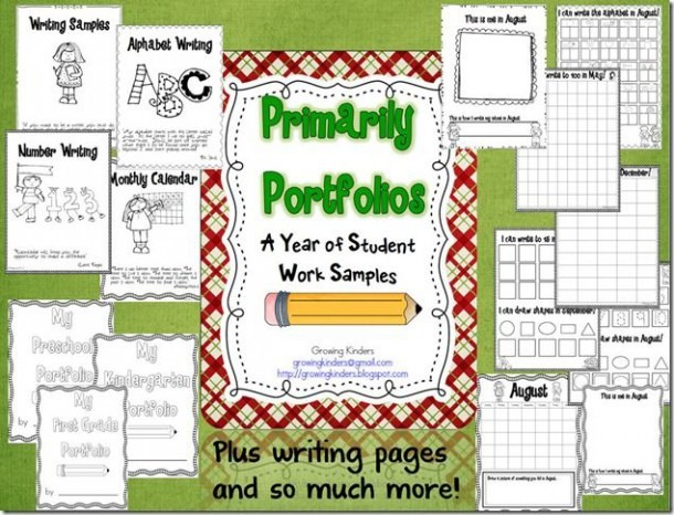 Cute Writing Portfolio Ideas For Early Childhood Students