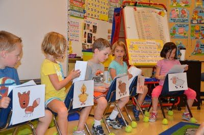 Cute Readers' Theater Look How They Used The Chairs To Identify