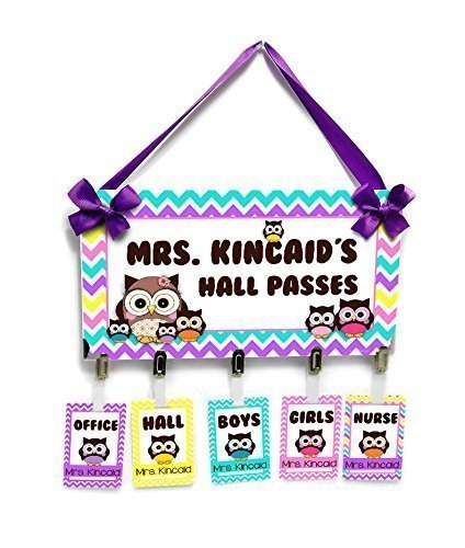 Amazon Com  Personalized Owls And Chevron Themed Classroom Hall