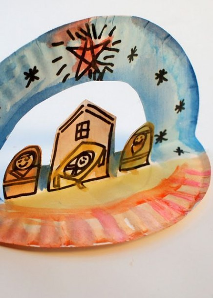 Easy Pop Up Paper Plate Nativity
