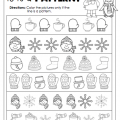 January Kindergarten Printables