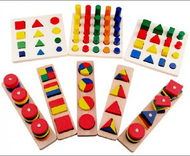 Online Shop 8 Pcs Lot Montessori Math Educational Toys Wooden