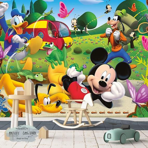The Outdoor Adventures Of Mickey Mouse Wall Mural, Mickey And