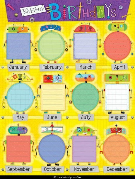 Awesome Birthday Charts For Kindergarten