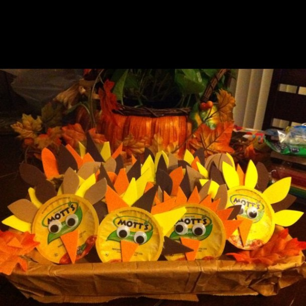 Applesauce Turkeys For The Kids  I Made These For My Sons Harvest