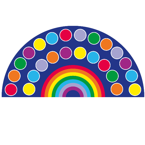 Rainbow Semi Circle Placement Carpet, Edusentials  (with Images