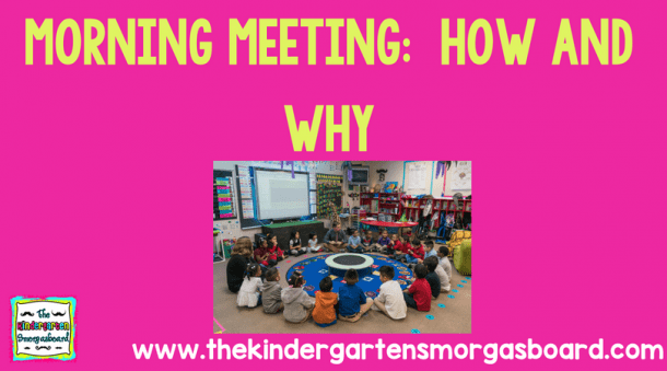 Morning Meeting  How And Why