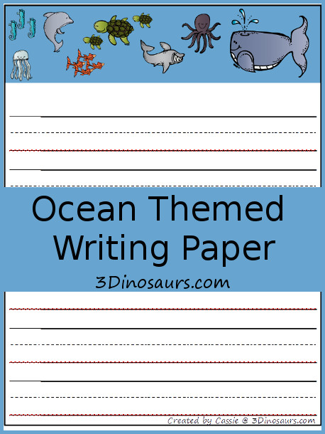 Free Ocean Themed Writing Paper