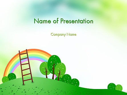 Kindergarten Theme Presentation Template For Powerpoint And