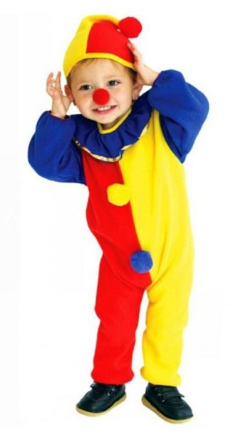 Kids Clown Clothes Cosplay Clothing Performance Stage Thin Clothes