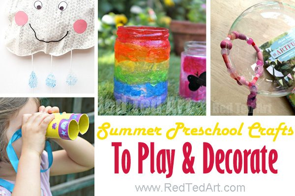 47 Summer Crafts For Preschoolers To Make This Summer!