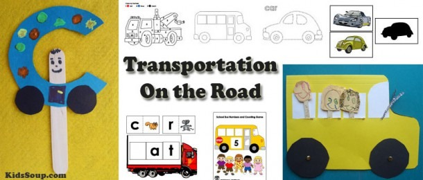 Preschool Transportation Crafts, Activities, Lessons, Games, And
