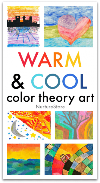 Warm And Cool Color Theory Art Lesson For Kids