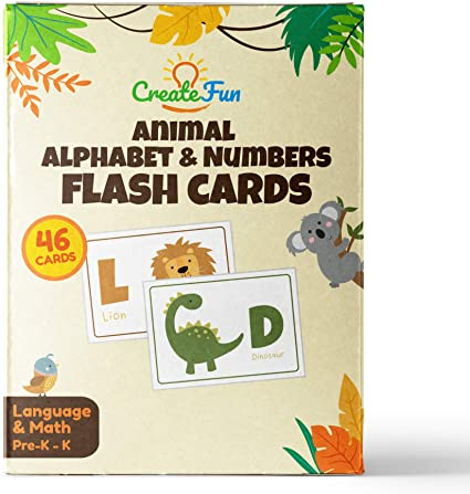 Amazon Com  Animal 123 And Abc Flash Cards For Babies, Toddlers