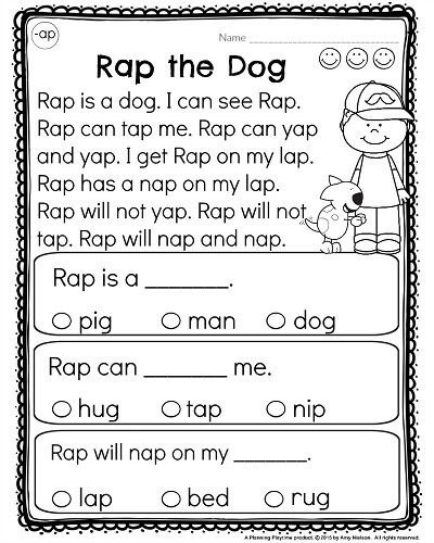 Reading Comprehension Worksheets For Kindergarten Free