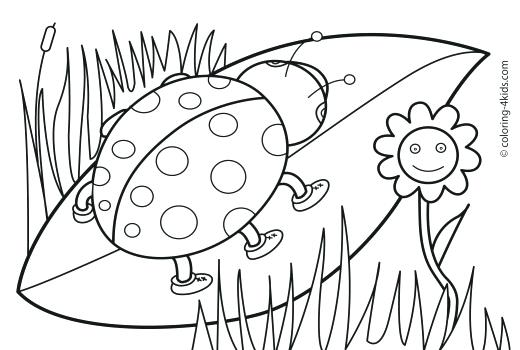 Springtime Coloring Pages For Kindergarten