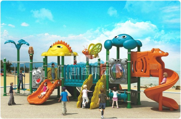 China Compact Children Plastic Outdoor Playground For School Yard