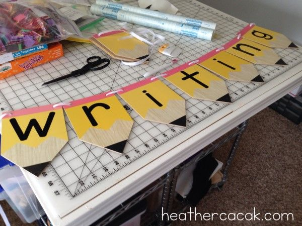Cricut Creations For The Classroom  Writing Area Banner