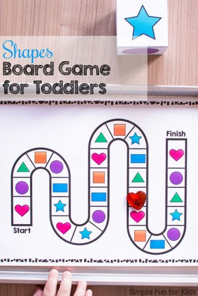 Shapes Board Game For Toddlers